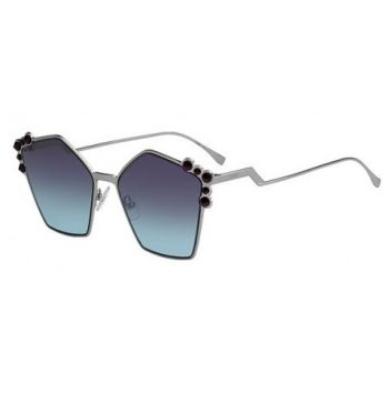 FENDI FF 0261/S 6LB/JF SILVER/GREY LIGHT BLUE SHADED