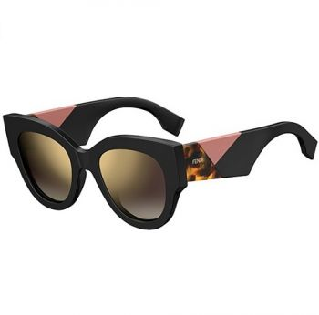 FENDI FF 0264/S 807/JL BLACK HAVANA/GOLD BROWN SHADED