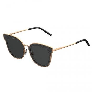 JIMMY CHOO NILE/S RHL/2K COPPER GOLD BLACK/DARK GREY