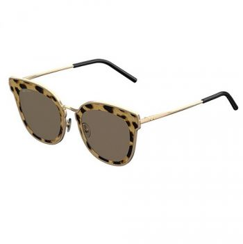 JIMMY CHOO NILE/S XMG/2M GOLD ANIMAL PRINT/BROWN