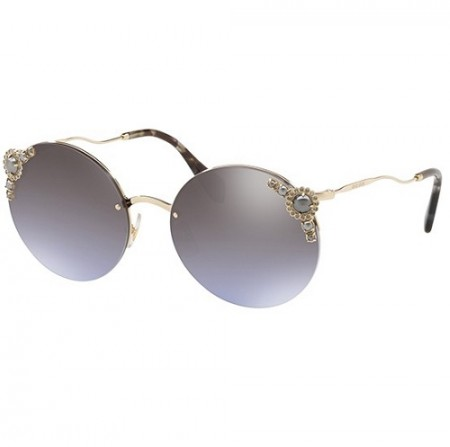 MIU MIU PEARL COLLECTION SMU52TS WO4-2H2 PALE GOLD/VIOLET SILVER SHADED