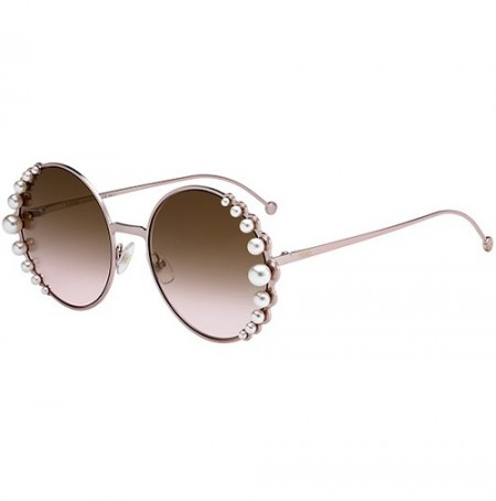 FENDI RIBBONS AND PEARLS FF 0295/S 35J/53 PINK/BROWN