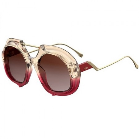 FENDI TROPICAL SHINE FF 0316/S C48/3X PINK RED/BROWN SHADED