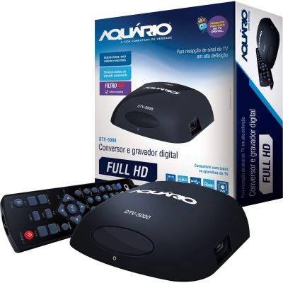 CONVERSOR E GRAVADOR DIGITAL FULL HD HDMI  DTV-5000 - AQUARIO