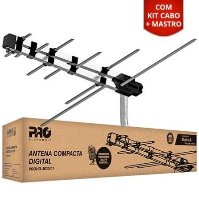 Kit Conversor Digital + Antena + Cabo 8m