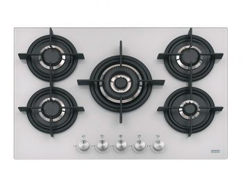 Cooktop Crystal White 75 GTC 5 Bocas Gas FHCR 755 4G TC HE WH C Glass Franke