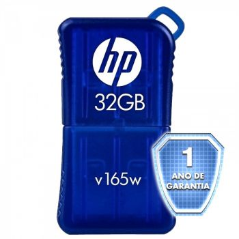 Pen Drive HP V165W - 32GB - USB 2.0 - Azul