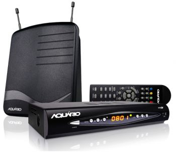 Kit conversor e gravador Digital full HD - DTV 8100 Aquário + Antena interna + Cabo HDMI