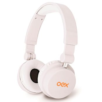 Fone de ouvido Headphone Multimidia Style HP-103 - OEX - Dobrável - Hands Free - Branco