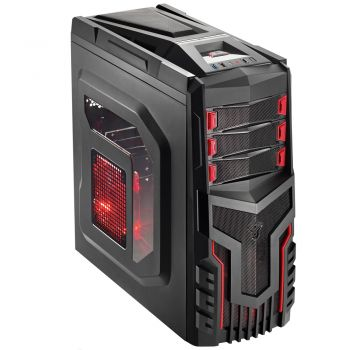 Gabinete Warrior Gamer Multilaser GA124 - 3 Coolers com Led - Lateral Acrílica