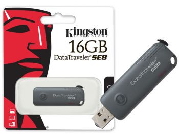 Pen Drive Kingston DTSE8 - 16GB - USB 2.0 GRIS