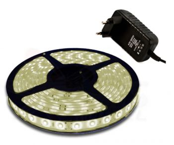 Fita Led Branca Quente 5mts dupla face 5050 300Leds + Fonte