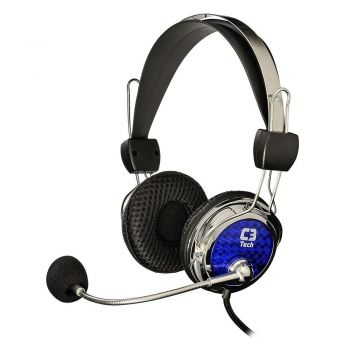 Headset Gamer Pterodax 2322RC Prata C3 Tech