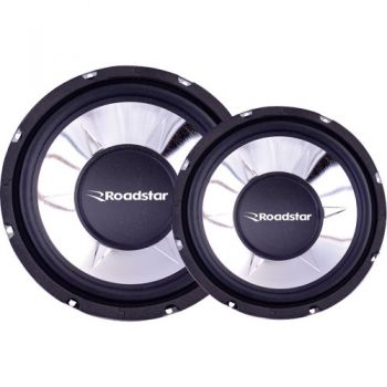 Subwoofer 10'' 4 Ohms 250W RMS RS1053BR Preto ROADSTAR