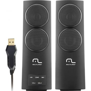 Caixa De Som 3D Super Bass 20W RMS USB - Multilaser Sp152