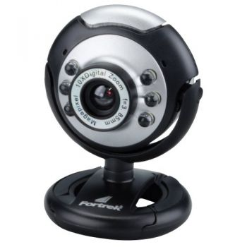 Webcam EC-204 1.3MP com Microfone FORTREK