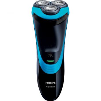 Barbeador Aquatouch Plus Preto e Azul Bivolt - Philips AT756/16