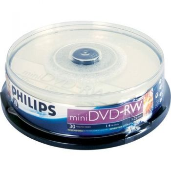 Midia Mini Dvd-Rw 2x 1,4gb Com 10 Unidades Philips