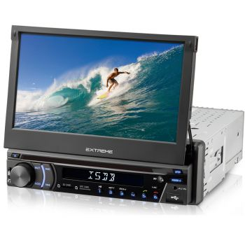 DVD Player Retrátil Multilaser GP042  - C/ TV de 7'',  Gps Bluetooth, Câmera de ré