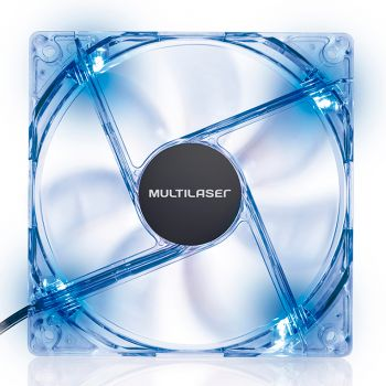 Cooler Fan Led Azul Multilaser 12x12 CM - GA135