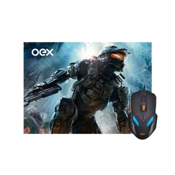 Kit Combo Gamer OEX War - Mouse Luminoso 07 Cores 2400DPI + Mousepad Antiskid - MC100
