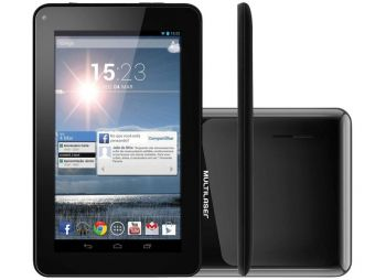Tablet Multilaser M7-S NB116 8GB Wi-fi Tela 7'' Android 4.4 Processador Dual-core 1.2 GHz - Preto