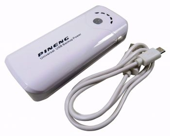 Carregador Portatil Power Bank Pineng 5000mah USB lanterna PN905