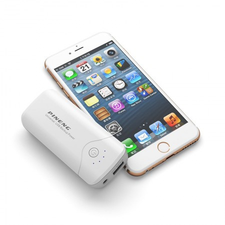 Carregador Portatil Power Bank Pineng 5000mah USB lanterna PN905  - foto principal 1