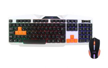 Kit Gamer OEX TM300 Combo Ice Teclado Backlight + Mouse - USB - 2400dpi