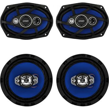 Kit Alto Falante Quadriaxial 6x9'' + 6'' 55W RMS 4 Ohms ORION