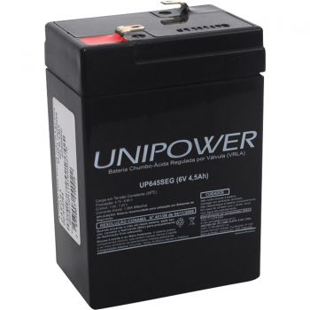 Bateria Selada UP645SEG 6V/4,5AH UNIPOWER
