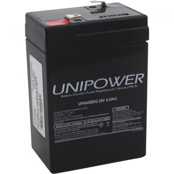Bateria Selada 6V/4,5Ah UP645SEG UNIPOWER