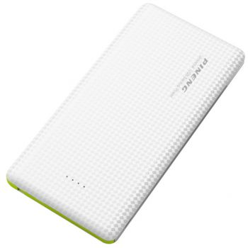 Carregador Portátil Power Bank Pineng 5000mah Slim Branco PN952