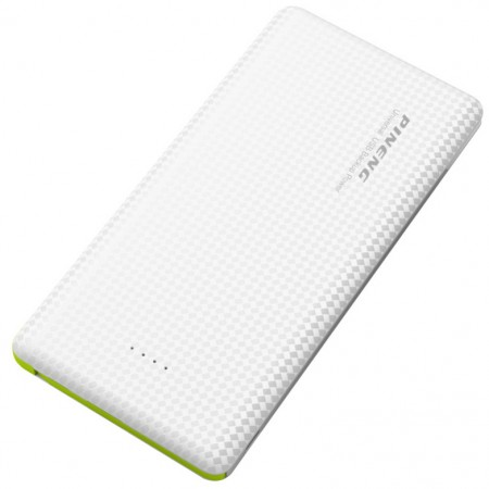 Carregador Portátil Power Bank Pineng 5000mah Slim Branco PN952  - foto principal 1