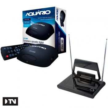 Kit TV Digital - Antena Digital Interna Philips SDV1125/55 + Conversor Digital Aquário DTV5000