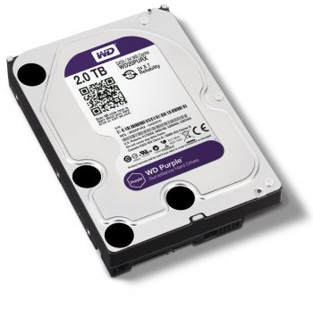 HD Para DVR 3,5'' 2TB 5400 RPM WD20PURX Prata WESTERN DIGITAL