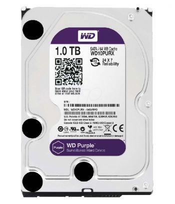 HD Para DVR 3,5'' 1TB 5400 RPM WD10PURX Prata WESTERN DIGITAL