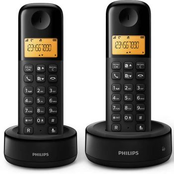OUTLET - Telefone sem fio Philips Dect 6.0 D1302B + Ramal