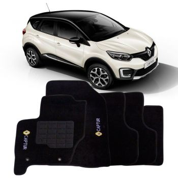 Tapete Carpete Renault Captur Bordado Preto