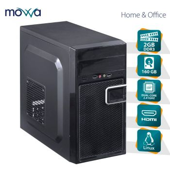 Computador PC Lite Movva Intel Dual Core J1800 2.41GHZ 2GB DDR3 HD 160GB HDMI Linux - MVLIJ18001602