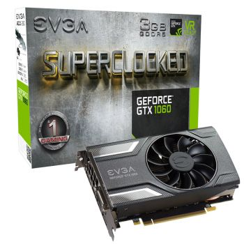 Placa de Vídeo EVGA Nvidia GeForce GTX 1060 3GB ACX2.0 DDR5 192 Bits 03G-P4-6162-KR
