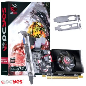 Placa de Vídeo PCYES AMD Radeon 2GB DDR3 64bits Low Profile HD6450 PS64506402D3LP