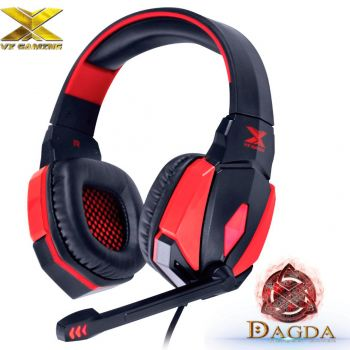 Headset Gamer Vinik VX Dagda 7.1 Emborrachado Led USB e Microfone