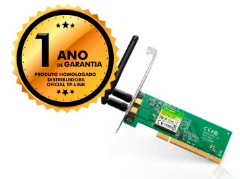 Adaptador Interno Placa PCI TP-Link TL-WN851ND 300mbps 2 Antenas Wireless