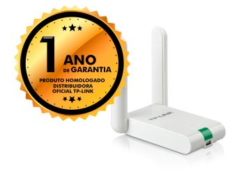 Adaptador Wireless USB TP-Link TL-WN822N 300mbps 2 Antenas Fixas