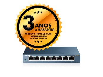 Switch 08 Portas TP-Link TL-SG108 Gigabit 10/100/1000Mbps