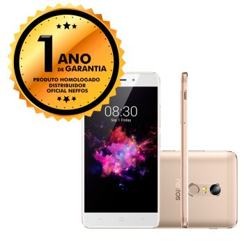 "Smartphone Neffos TP-Link X1 Gold Dual Chip 13MP 16GB Octa-Core Tela 5"" 2GB RAM"