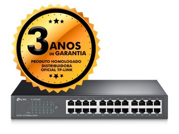 Switch 24 Portas TP-Link TL-SF1024D 10/100Mbps