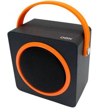 Caixa de Som Speaker OEX Color Box Laranja SK404 Bluetooth
