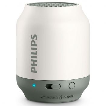 OUTLET - Caixa de Som Speaker Portátil Bluetooth Philips Branco BT50WX